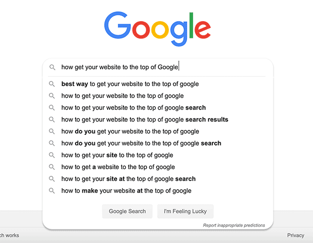 how get your website on first-page on Google search results