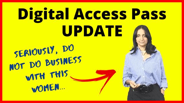Digital Access Pass Review Veena Prashanth