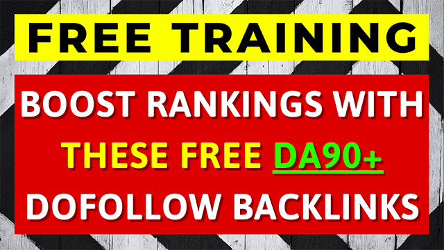 Into today's FREE training, I'm going to be showing you how to build backlinks without paying for them & get a HUGE boost in the search results EVERY TIME.