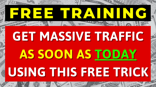 In this FREE training, I'm going to show you how to get a 1000 visitors per month for FREE in just 30 days from TODAY.